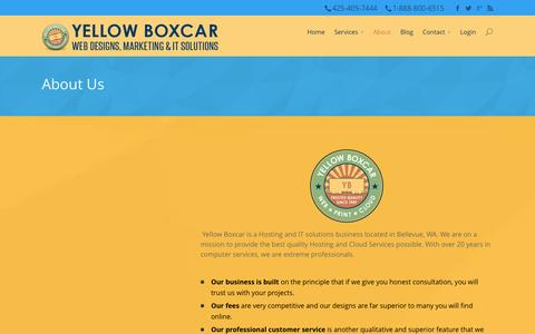 Screenshot of About Page yellowboxcar.com - About - Yellow Boxcar - captured Oct. 7, 2014