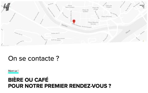 Screenshot of Contact Page kiffandco.be - On se contacte ? - KIFF. - Agence web - captured Oct. 14, 2018
