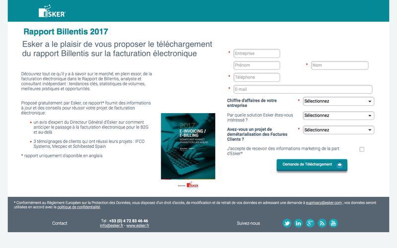 Facturation électronique : rapport Billentis 2017