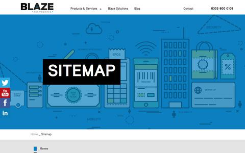 Screenshot of Site Map Page blazenetworks.co.uk - Sitemap | Blaze Networks Ltd | Your Complete IT Solutions Provider - captured Oct. 10, 2017