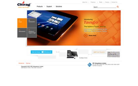 Screenshot of Home Page rpchirag.com - Chirag : Greenputer : Home - captured Oct. 6, 2014