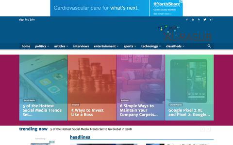 Screenshot of Home Page alrasub.com - Digital news and opinion publishing media network | Al-Rasub - captured Oct. 7, 2017