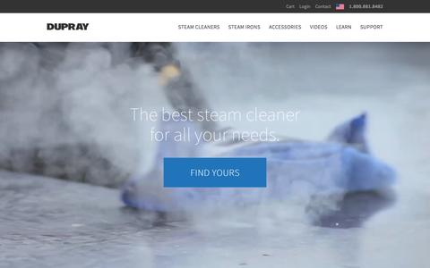 Screenshot of Home Page dupray.com - Shop the Best Steam Cleaners and Steam Generator Irons by Dupray - captured April 27, 2016