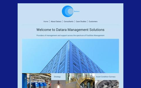 Screenshot of Home Page datara.co.uk - Datara Management Solutions - Home - captured Oct. 7, 2018