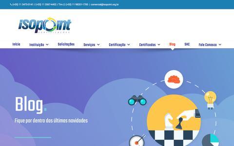 Screenshot of Blog isopoint.org.br - Blog – ISOPOINT – CERTIFICAÇÕES - captured Feb. 12, 2018