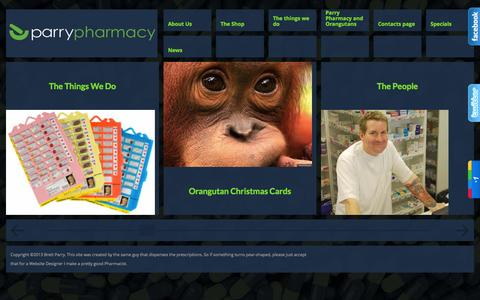 Screenshot of Home Page parrypharmacy.com - parry pharmacy - captured Jan. 17, 2015