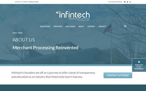 Screenshot of About Page infintechllc.com - About Us | Infintech - captured July 20, 2019