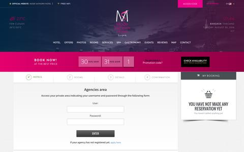 Screenshot of Login Page modesathorn.com - Access to agencies' private area Mode Sathorn - captured Aug. 30, 2016