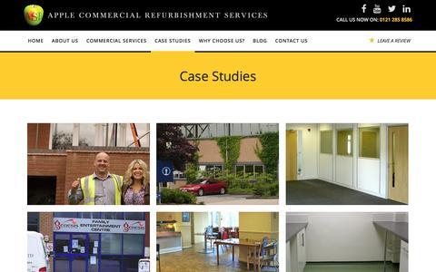 Screenshot of Case Studies Page apple-solutions.co.uk - Case Studies - captured Feb. 28, 2017
