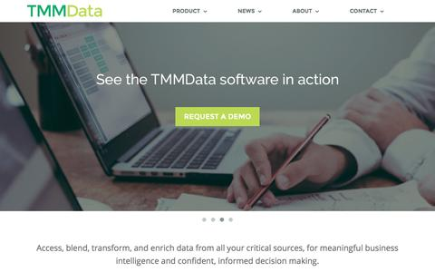 Screenshot of Home Page tmmdata.com - TMMData | Data Integration and Data Preparation Software - captured Sept. 14, 2016