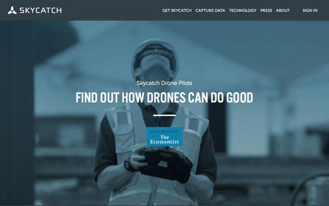 Screenshot of Home Page skycatch.com - Skycatch | Intelligent, scalable, and fully autonomous data capture solution - captured Sept. 20, 2015
