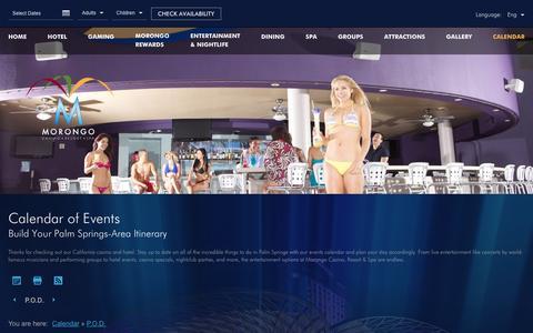 Screenshot of morongocasinoresort.com - Morongo Casino Events | Morongo Casino Resort - captured Feb. 28, 2017