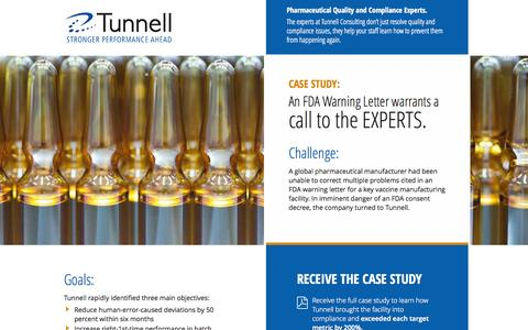 Screenshot of Landing Page tunnellconsulting.com - Tunnell Consulting | Quality & Compliance Consultants - captured Oct. 27, 2014