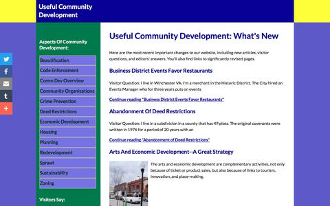 Screenshot of Blog useful-community-development.org - Useful Community Development: What's New - captured June 22, 2016