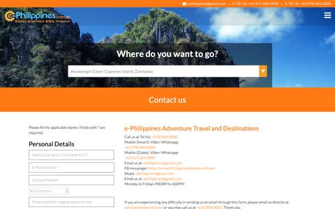 Screenshot of Contact Page e-philippines.com.ph - Contact Us - captured Oct. 6, 2018