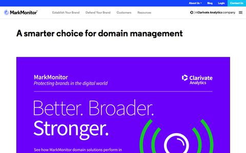 Screenshot of Team Page markmonitor.com - A smarter choice for domain management - MarkMonitor - captured Jan. 13, 2020