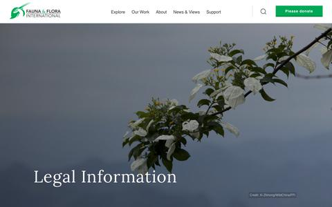 Screenshot of Terms Page fauna-flora.org - Legal | Fauna & Flora International - captured Oct. 10, 2018