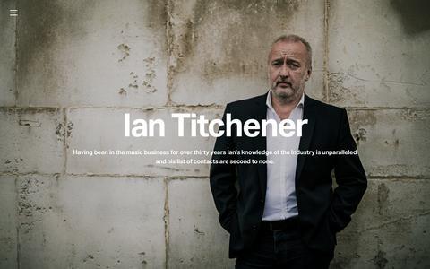 Screenshot of Home Page iantitchener.com - Ian Titchener - captured June 15, 2017