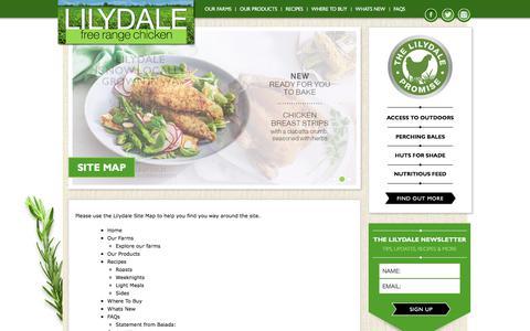 Screenshot of Site Map Page freerangechicken.com.au - Site Map - Lilydale free range chicken - captured Aug. 14, 2017
