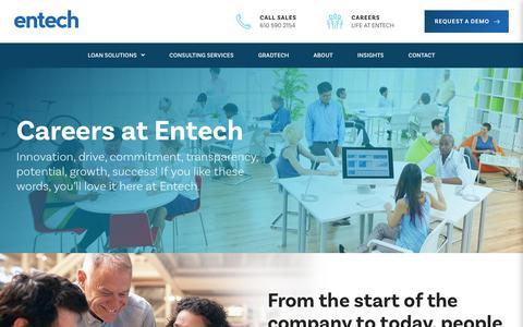 Screenshot of Jobs Page entech.com - Careers   Entech - captured July 19, 2018