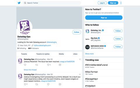 Tweets by Datadog Ops (@DatadogOps) – Twitter