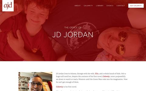 Screenshot of About Page o-jd.com - About — The Office of JD Jordan - captured May 1, 2017