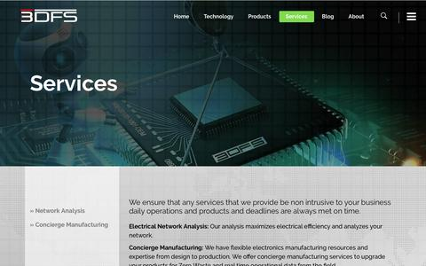 Screenshot of Services Page 3dfs.com - Our services - captured Feb. 24, 2016