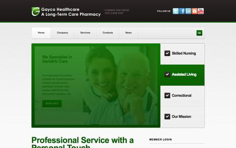 Screenshot of Testimonials Page gaycohealthcare.com - Welcome to Gayco Healthcare | A Long-Term Care Pharmacy | Gayco Healthcare | A Long-Term Care Pharmacy - captured Oct. 2, 2014