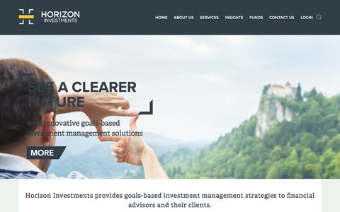 Screenshot of Services Page horizoninvestments.com - Services - Horizon Investments - captured June 11, 2016