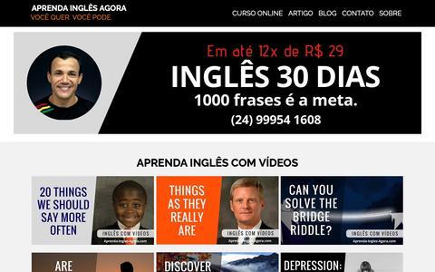 Screenshot of Home Page aprenda-ingles-agora.com - Inglês para Todos. Simples. Fácil. Divertido. - captured Nov. 25, 2018