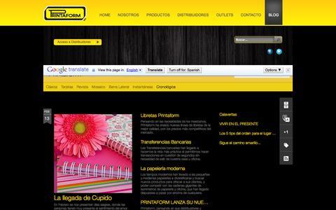 Screenshot of Blog printaform.com.mx - Printaform - captured Sept. 30, 2014