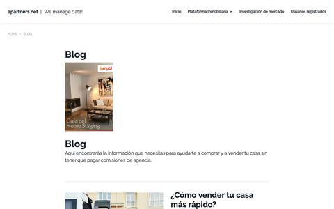 Screenshot of Blog apartners.net - Blog de inmubi - captured Nov. 6, 2018