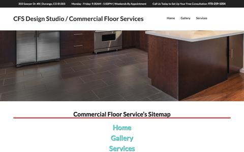Screenshot of Site Map Page cfsdesigninc.com - Sitemap | Links | Site Information | Commercial Floor Service - captured Sept. 25, 2018