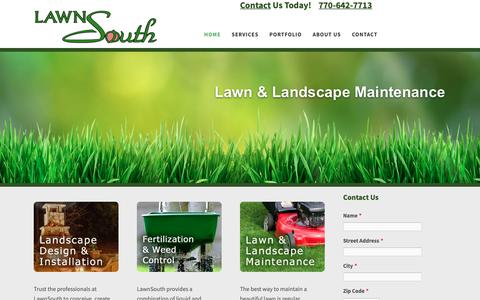 Screenshot of Home Page lawnsouth.com - LawnSouth—Your Outdoor Living Experts - captured Nov. 4, 2018