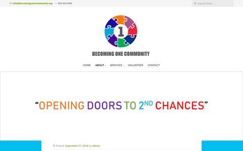 Screenshot of Blog becomingonecommunity.org - Blog – Becoming One Community - captured Nov. 6, 2018