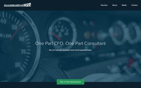 Screenshot of Home Page acceleratingcfo.com - CFO Consulting Services - captured Dec. 23, 2015