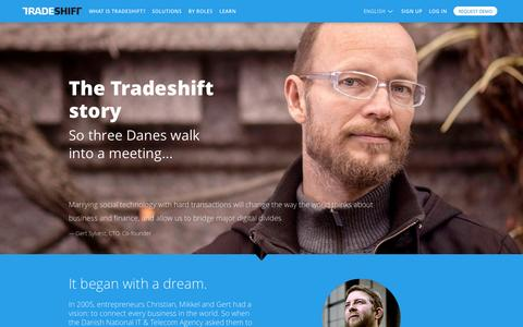 Screenshot of About Page tradeshift.com - About : Tradeshift - captured June 17, 2015