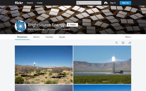 Screenshot of Flickr Page flickr.com - BrightSource Energy | Flickr - Photo Sharing! - captured Nov. 23, 2015