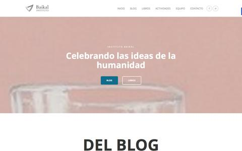 Screenshot of Home Page institutobaikal.com - Inicio - Instituto Baikal - captured Jan. 8, 2016