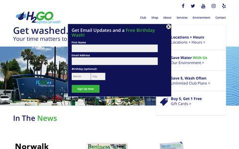 Screenshot of Press Page h2goexpress.com - News – H2Go Express Car Wash - captured Sept. 25, 2018