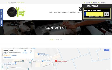 Screenshot of Contact Page mobileecotuning.com - MobileEcoTuning | Contact Us - captured Dec. 10, 2018
