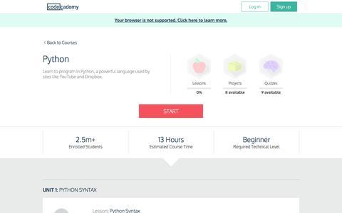 Python | Codecademy