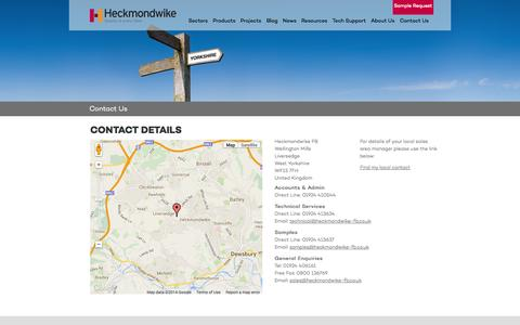 Screenshot of Contact Page heckmondwike-fb.co.uk captured Sept. 30, 2014