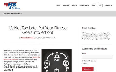 Screenshot of Blog nifs.org - NIFS Fitness Center Blog - captured Jan. 26, 2017