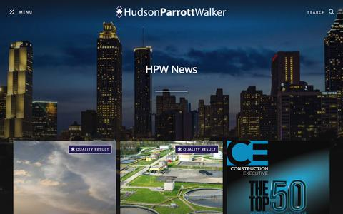 Screenshot of Press Page hpwlegal.com - News from HudsonParrottWalker, LLC | Construction Law | Commercial Litigation | General Liability | Banking Law |  Employment Law | Atlanta Law Firm - captured July 1, 2019