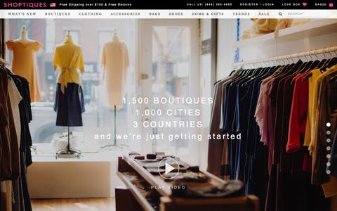 Screenshot of About Page shoptiques.com - About Us — Shoptiques - captured Oct. 22, 2015