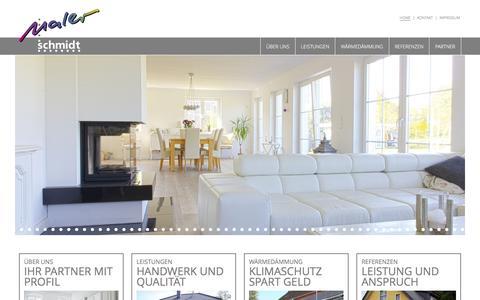 Screenshot of Home Page malerschmidt.de - Maler Schmidt GmbH & Co. KG - Home - captured June 8, 2016