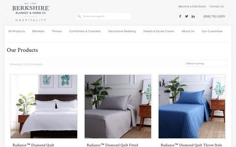 Screenshot of Products Page berkshirehospitality.com - Our Products – Berkshire Hospitality - captured July 13, 2018