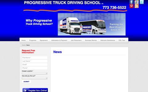 Screenshot of Press Page cdltruck.com - News - captured Oct. 3, 2014