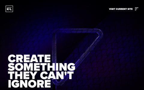 Screenshot of Home Page k2l.co.uk - K2L | Creative Marketing Agency | Manchester - captured Feb. 11, 2019